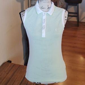Golfino half button down size 8